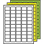 "Colored Multipurpose Processing Labels 1"" x 1-1/2"""