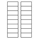 "PermaPlus™ Processing Labels 1-1/4"" x 3"""
