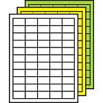 "Colored Multipurpose Processing Labels 29/32"" x 1-1/2"""