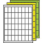 "Colored Multipurpose Processing Labels 1-2/3"" x 1"""