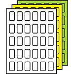 "Colored Multipurpose Processing Labels 1-1/2"" x 7/8"""