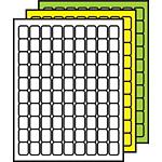 "Colored Multipurpose Processing Labels 1"" x 3/4"""