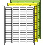 "Colored Multipurpose Processing Labels 1/2"" x 1-3/4"""